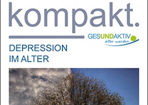 Informationen der BzgA über Depression im Alter als kompaktes Faltblatt